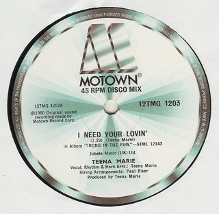 Teena Marie – I Need Your Lovin' [Motown:1980]