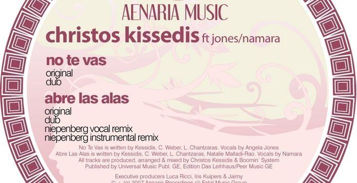 Christos Kessidis – No Te Vas [Aenaria Music:2007]