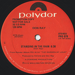 Don Ray – Standing In The Rain [Polydor:1978]