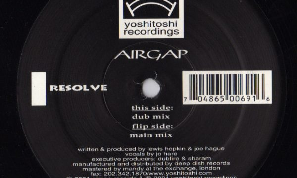 Airgap – Resolve [Yoshitoshi Recordings:2002]