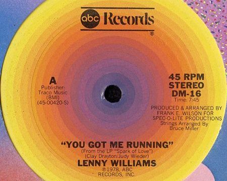 Lenny Williams – You Got Me Running [ABC Records:1978]